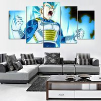 5 Pieces HD Печать Холст Живопись Dragon Ball Blue Picture Poster Wall Art Print Home Decor