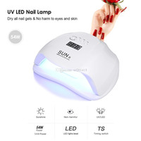 Sun x 54w светодиодные лампы ногтей датчик ультрафиолетовые лампы маникюр быстрый сухой молитвенный гель для отверждения ногтей оборудование