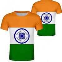 الهند تي شيرت diy شحن مخصص اسم عدد الهندي t-shirt الأمة العلم الهندية بلد جمهورية الهندي كلية طباعة صورة الملابس