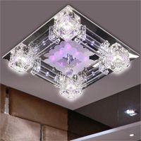 الحديث مربع 42 سنتيمتر كريستال الزجاج أدى ضوء السقف مصباح تعليق 110 فولت 220 فولت لومينار لغرفة النوم غرفة المعيشة decoraion