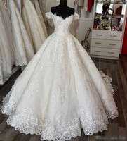 Luxury Wedding Dress 2018 Robe Ball Gown Off Shoulder Long C...