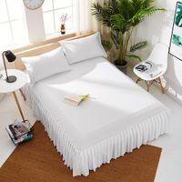 Normallack-Bett-Rock-Polyester-Baumwolle bequemes weiches Breathable Mehrfarben-Bett, das 40cm Höhe-Tagesdecke-Tropfen-Verschiffen bedeckt
