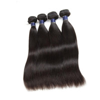 Бразильские малазийские девственницы человеческих волос Weaves 5/6 пучки прямые перуанские наращивания волос человеческих волос WEFTS 50G / шт.