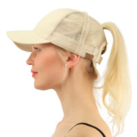 13 Colors C. C Horsetail Baseball Hat Ponytail Messy Buns Tru...