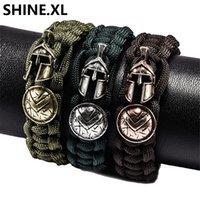 Forces armées Nouveau Bracelet Survie En Plein Air Règle Militaire Parapluie Corde Casque Bouclier Bracelet Parapluie Corde Survival Bracelet