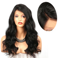 ZhiFan Amazon Hot Sale Black Long Natural Wave Hair Front La...