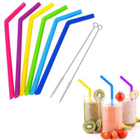 6pcs lot Reusable Drinking Straw Silicone Straws For Home Pa...