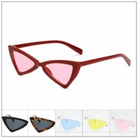 8 Colors Luxury Bowknot Triangle Sunglasses Women Fashion Ca...