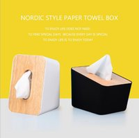 Removable Tissue Paper Wooden Plastic Box - Home Bathroom Ca...
