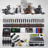 Tattoo Kit 4 Top Machine Gun 40 Color Ink Power Supply Needl...