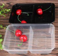 Yemek Hazırlık Konteynerler Mikrodalga Gıda Depolama Porsiyon Kontrolü Kapaklı Kapaklı Tek Kullanımlık Konteynerler