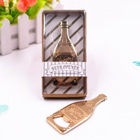 Gold Color Beer Bottle Shape Bottle Opener Zinc Alloy Weddin...