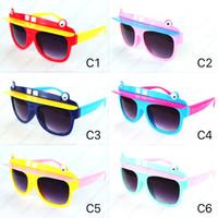 Heiße Neue Mode Jungen Mädchen Sonnenbrille Hut Stil Design Kinder Gläser Anti UV400 Schutz Retro Kinder Sonnenbrille Oculos 2069