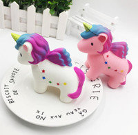 Hot Mini Lovely Squishy Unicorn Horse Healing Squeeze Regalo de juguete para niños Stress Reliever Decoración flexible Envío gratis