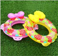 70 cm galleggianti gonfiabili nuotano piscina galleggiante fragola anelli di nuoto infantile bambini Farfalla tubi di nuoto bagno spiaggia giocattolo
