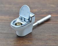 Neues Metall-Sharpstone-Metall Toliet-Muster, das Tabakpfeife Toilette-Form trockenes Krautrohr tragbares Zigarettenschnupfrohr raucht