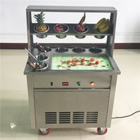 Yüksek verim Tay ticari kızarmış dondurma makinesi Elektrikli kızarmış dondurma rulo makinesi 110v 220v