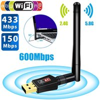 600Mbps USB Wifi Adapter Dual Band 5. 8GHz 2. 4GHz 802. 11AC RT...