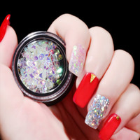 7 Style Nail Art Laser Mermaid Sequins Rhombus Diamond Trian...