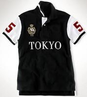 Komik Yaz Büyük At Polo Tişört Erkekler Pamuk Berlin Milan New York Tokyo Paris Roma Londra Dubai T Shirt City Leisure Tees