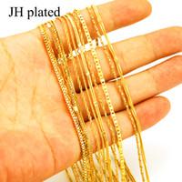 JHplated Äthiopischen Halsketten für Frauen Gold Farbe Afrika Schmuck Eritrea Kette dünne kette