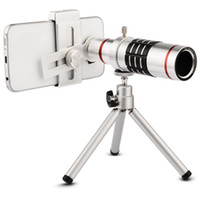 iPhone Samsung SmartPhone için Tripod Klip Kiti Evrensel Telefon Kamera Lens 18x Zoom Optik Teleskobu HD cep telefonu Telefoto Lens