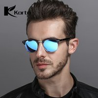 Polarized Horn Rimmed Half Frame Sun Glasses for Men Semi Ri...