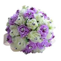 Clearbridal Gelişmiş Özelleştirme Romantik El Yapımı Gelin Tutan Çiçek, Batı Tarzı Zarif Düğün Buket WF015