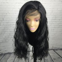Top Quality 180% Density Synthetic Hair Body Wave Lace Front...