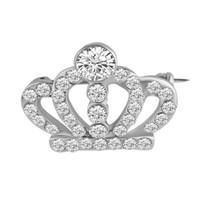 Donne Ragazze strass Hollow Crown Tiara Spilla Suit Lapel Pin per Wedding gioielli e accessori da sposa regalo per l'amore all'ingrosso di trasporto veloce