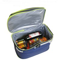 الجملة-في الهواء الطلق للماء أكسفورد سلة نزهة إبقاء الباردة الساخنة العزل للطي تخزين أكياس الغداء نزهة حقيبة التخييم LunchBox