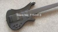 Custom 6 Strings Noir 4003 Matériel noire de guitare électrique de basse électrique, touche sans fars, sans inlay Top Vente