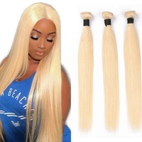 Blonde Human Hair Wefts 100% Natural Human Hair Bundles Stra...