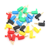 50 pcs 2mm Gold Plated Copper stackable Banana Plug jack connector for Binding Post Test Probes 5 Color