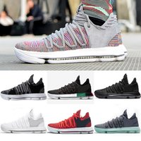 2018 Newest Basketball shoes Mens KD 10 Sport Sneakers Tripl...