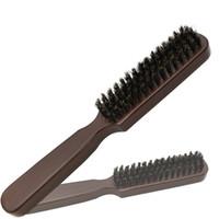 Ahşap Ince Kolu Sakal Fırça Özel Erkek Tıraş Bıyık Tarak Bouar Kıl Saç Dalga Kuaförlük için Fırça