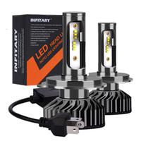 Ampoules LED H1 H3 H4 H7 H11 H13 9004 9005 9006 9005 9006 Hi-Lo Projecteur Auto à faisceau unique 72W 6500K ZES Chips