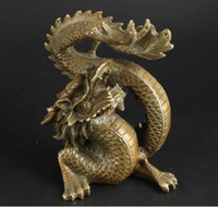 China Collectable Handmade Messing Clear Abwehr Bad Pech Glück Dragon Statue