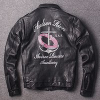 Stone mill motorcycle leather Jacket back with Anchor badge ...