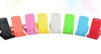 Iphone Tablet Samsung için Katlanır Mini Cep Telefonu Tutucu plastik Lazy Telefon standı Yatak Görüntü telefonları Aksesuarlar
