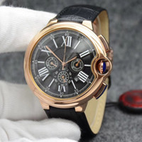 Luxury Brand watch Men 46mm 6- pin Quartz watch Ballon Bleu b...
