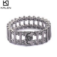 220mm 316l titanium edelstahl tier armband für männer männer traditionellen charme schmuck großhandel online kalten
