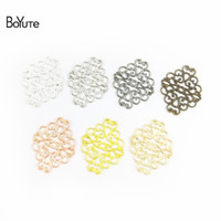 BoYuTe 100 Pcs 7 Colors 36*30MM Metal Brass Filigree Flower ...