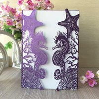 20pcs lot Pearl paper Sea Beach Wedding seahorse Shell Birth...