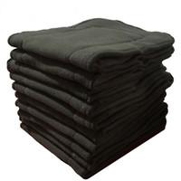 10 Pack baby luier insert couche lavable herbruikbare zachte bamboe houtskool insert wasbare liners voor doek luiers baby 13.5 * 35cm