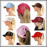 13 Цвета CC Ponytail Ball Cap Messy Buns Trucker Ponycaps Простой бейсбольный козырек Cap Dad Hat CC Ponytail Snapbacks CCA9339 50шт.
