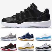 Alta calidad 11 Low Bred Ceremonia de clausura Navy Gum Basketball Shoes Men Women 11s UNC Cherry Varsity Red Emerald Barons Sneakers