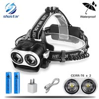 8000LM 2xT6 Led Headlamp Zoomable Headlight Waterproof Head ...