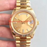6 moda moda reloj de alta calidad 40 mm diamante dial 18k amarillo oro 228239 228235 asia 2813 movimiento mecánico mecánico relojes para hombre