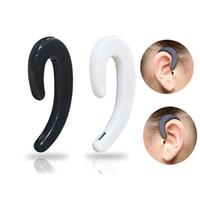 S103 스포츠 무선 Bluetooth 이어폰 단일 이어 버드 뼈 전도 블루투스 헤드폰 소매 패키지가있는 귀마개 없음